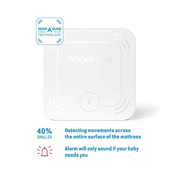 Angelcare Ac527 Baby Movement Monitor, with Video Angelcare New smaller, wireless sensasure movement sensor pad Alarm will sound if there is no movement after 20 seconds Non-contact monitoring 2