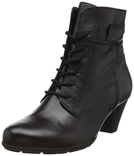Gabor Shoes Damen Basic Kurzschaft Stiefel, Schwarz 27, 36 EU - Fabelhafte Leder-stiefelette