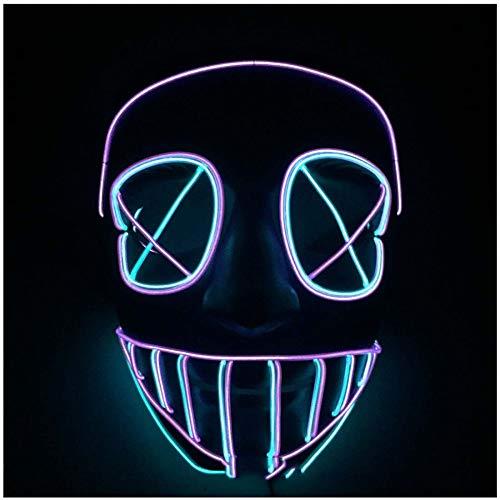 SPFAZJ selbst entworfene Halloween Show EL kühles Licht Scary Monster-Glow-Maske
