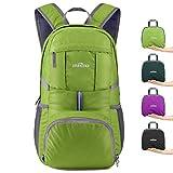 IREGRO 35 Liter Faltbarer Rucksack Leichter Tagesrucksack, für Outdoor Wandern Reisen (Grasgrün)