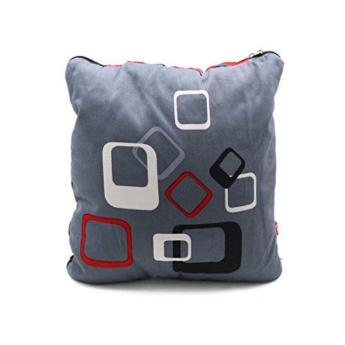 DealMux Grau Baumwolle Druck Multifunktionales Kissen Nap Kissen Sommerbettdecken für Auto