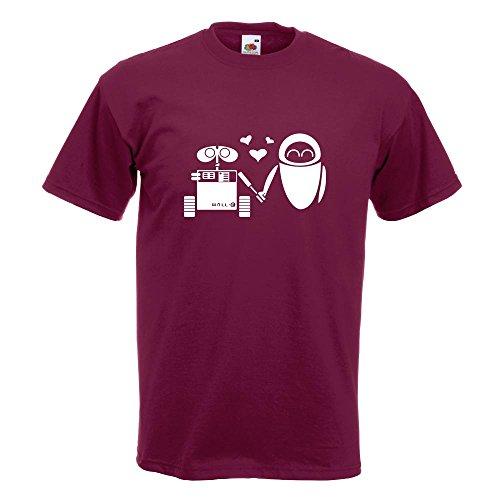KIWISTAR - Computerliebe T-Shirt in 15 verschiedenen Farben - Herren Funshirt bedruckt Design Sprüche Spruch Motive Oberteil Baumwolle Print Größe S M L XL XXL Burgund