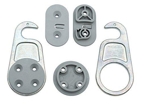 Gedotec Möbelverbinder LOCK Tischplattenverbinder trennbar Arbeitsplatten-Verbinder Beschlag System | Stahl verzinkt | Bauhöhe 9,1 mm | Möbelbeschläge | 4 Set