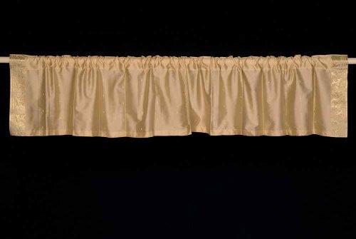 Golden-Rod Pocket Top IT OFF handgefertigt Sari Querbehang, Polyester, goldfarben, 43 X 15 Inches (109 X 38 cms) (Sari Für Tops)