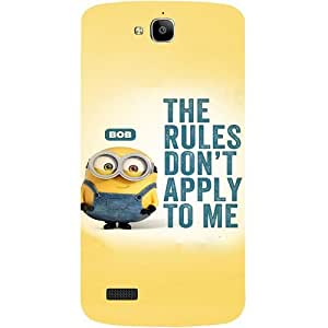 Casotec Minion Rules Design Hard Back Case Cover for Huawei Honor Holly