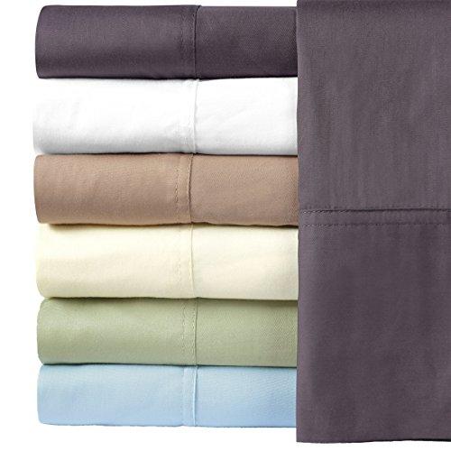 Royal Hotel Bettwäsche-Set aus 100% Bambus-Baumwolle, seidig weich Top-Split-King elfenbeinfarben - Split-baumwoll-mischung
