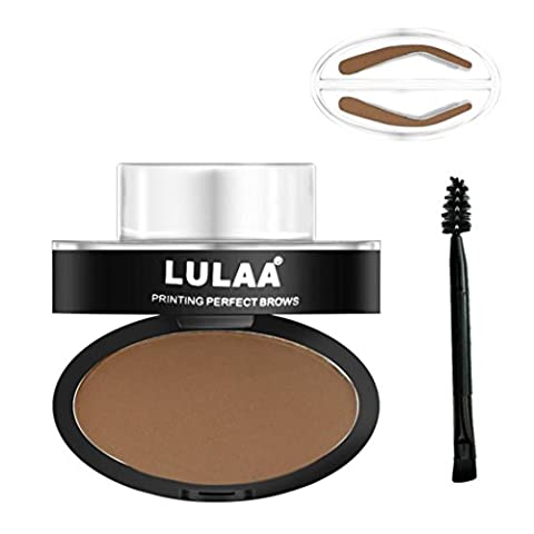 Arched Seal Eyebrow Lasting Waterproof Charming Eyebrow Powder Natural Eyebrow Powder Makeup Brow Stamp Palette Delicated Shadow Definition Lanspo (A)