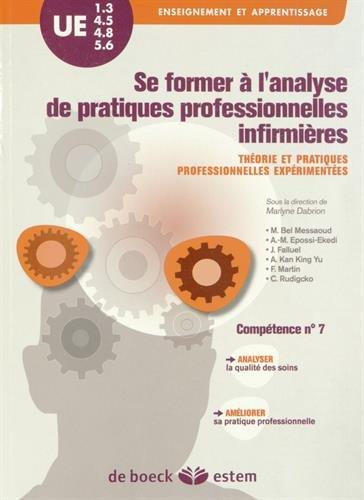UE 1.3, 4.5, 4.8 et 5.6 - Se former à l analyse de pratiques professionnelles infirmières - Théorie et pratiques professionnelles expérimentées