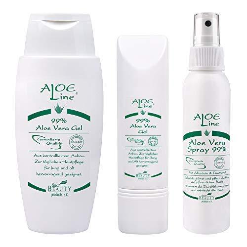 % (150ml + 50ml) & Bio Aloe Vera SPRAY 99% (100ml)   After Sun Pflege - lindert Insektenstiche, leichte Verbrennungen & Verletzungen   ohne Duft- & Farbstoffe   Fettfrei   VEGAN ()