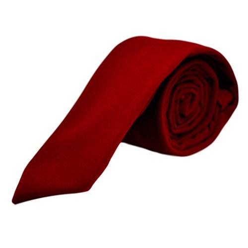 King & Priory Corbata Rojo de Terciopelo