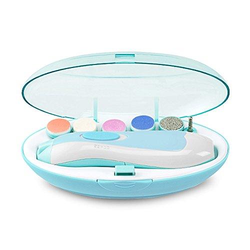Elektrische Baby Nagelfeile Nagelknipser set - 6 in 1 Maniküre Pediküre Set Batteriebetrieben Baby Nagelpflege mit LED Licht