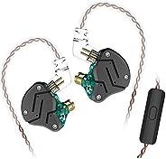 Yinyoo KZ ZSA en la oreja auriculares híbridos HiFi auriculares con cable de metal con 2 pines desmontable