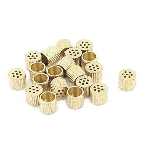 sourcingmapr-20-pz-scatola-nucleo-bocchette-di-rilascio-aria-foro-in-ottone-6mm-x-5mm