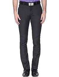Vettorio Fratini By Shoppers Stop Mens 4 Pocket Slub Formal Trousers