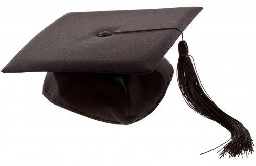 Preisvergleich Produktbild 2 X Deluxe Bachelor Doktor College Absolventen Hut Doctor Cap Doktorhut Diplomhut