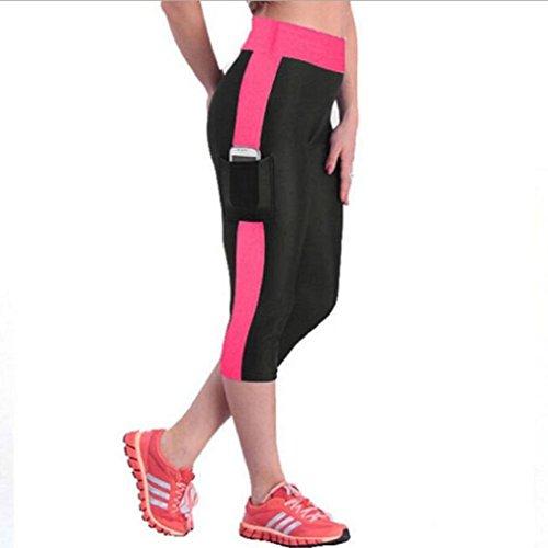 Vovotrade De Cintura alta Sport Pantalones Yoga de la Aptitud Estiramiento de...