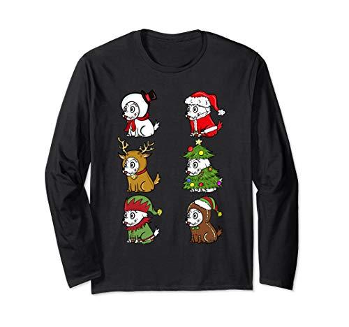 Hunde Kostüm Westies Für - Westie Xmas Kostüme Lustiger Hund Weihnachten Geschenk  Langarmshirt