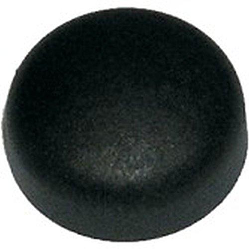 Dresselhaus 0/4604/705/12/ 9/5/51 Nummernschildabdeckkappen universal für Nummernschildschrauben, passend für M5 / M6 / 4,8 und 5,6 mm, 12 x 9 x 5, schwarz, 100 Stück