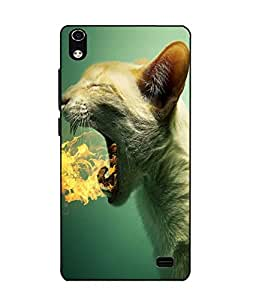 Case Cover Panther Printed Green Soft Back Cover For LYF WATER 6