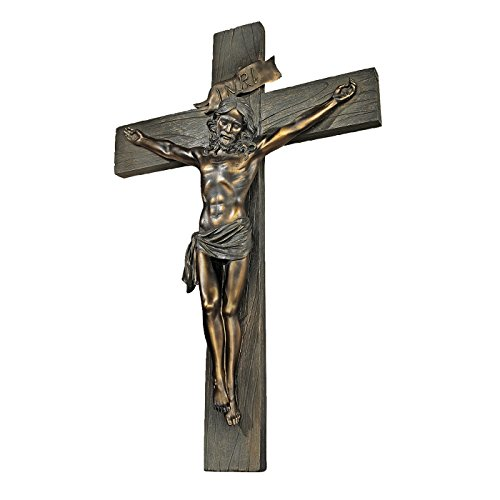 Design Toscano Kruzifix mit Jesus, Wandkreuz