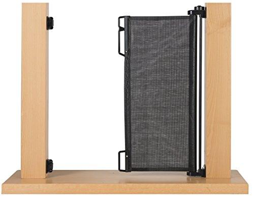 Impag Treppenschutzgitter Türschutzgitter Rollo einrollbar ausziehbar bis 140 cm - 3