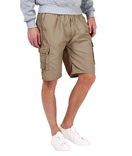 Pantaloncini di cotone basic (m (w26-30/l9),terra chiaro)