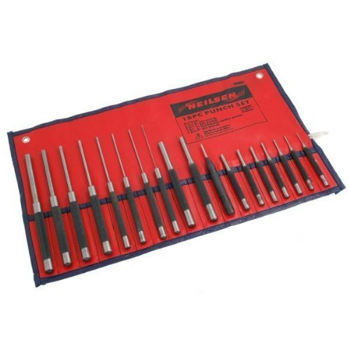 Pin Punch Set 18Pc (Parallel-In Pouch) Avec Auto Centre Coup De Poing 1 Paquet / S (Punches Pin)