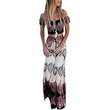 30643e1a3daef6 AMUSTER Damen Röcke und Bluse Sommer Strand Druck Weste Shirt Tops Bluse  Röcke 2PCS Set Frauen