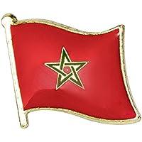 Pin de metal con la bandera marroquí de la Nación de Parche
