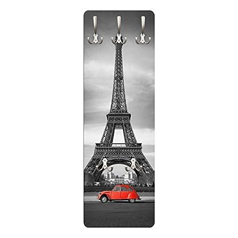 Porte-manteau mural: Canard Rouge sur le Tour Eiffel photo mural