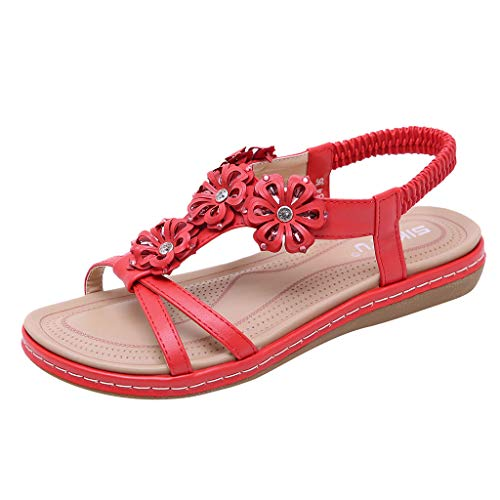 Meilleure Vente LuckyGirls Spring Summer Women Ladies Fashion Floral Casual Flats Roma Shoes Sandals