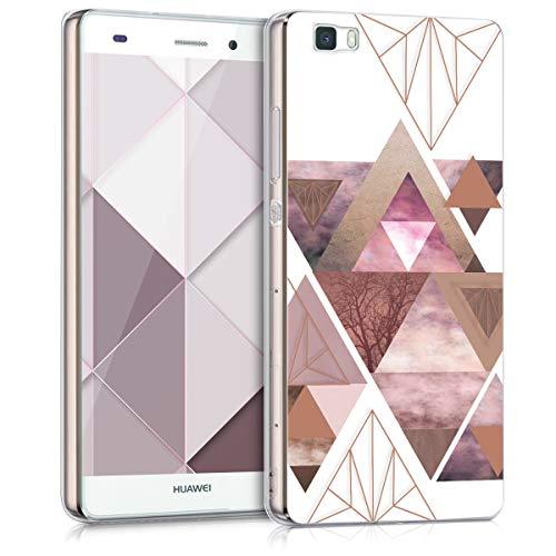 kwmobile Huawei P8 Lite (2015) Hülle - Handyhülle für Huawei P8 Lite (2015) - Handy Case in Rosa Rosegold Weiß