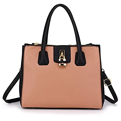 0b7a8732be63 Tote Shoulder Handbags Ladies Faux Leather Handbags Large Womens Designer Bags  Tote Shoulder Top Handle Stylish