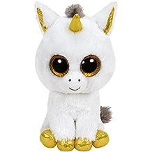 ty Glubschis - Pegasus Einhorn, weiß/gold - Beanie Boos - 42 cm [Edizione: Germania]