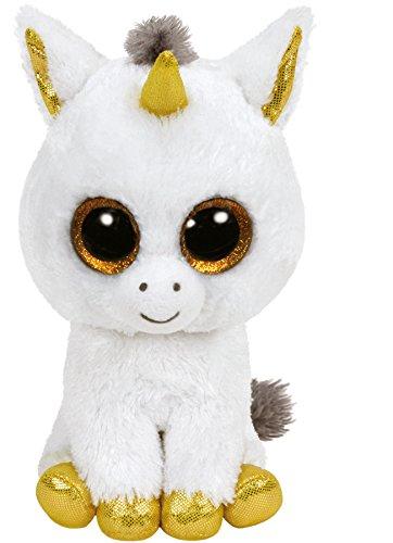 "Beanie Boo Unicorn - Pegasus - White/Gold - 42cm 16"""