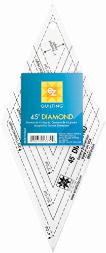 EZ Quilting 45° Raute, Schablone aus Acryl -