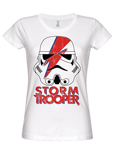 Star Wars Trooping Sane Girly Tee (White) Weiß