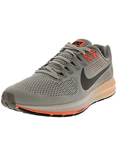 Nike Women's Air Zoom Structure 21 Wolf Grey/Dark Ankle-High Mesh Running Shoe - 5.5M
