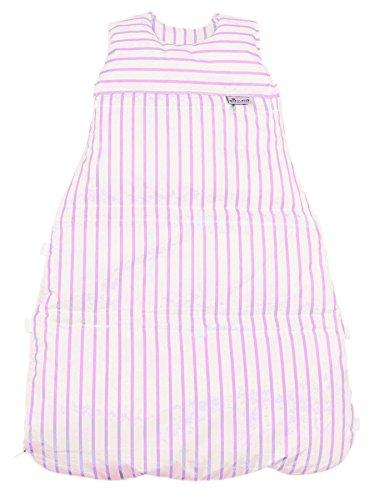 Climarelle Daunenschlafsack, längenverstellbar, Alterskl. ca 3-20 Monate, Streifen weiss-rose, 80 cm