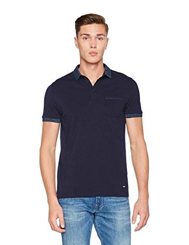 Boss Orange Herren T-Shirt Previously Blau (Dark Blue 404)