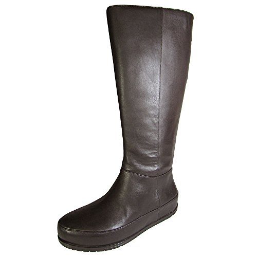 Fitflop Womens FF2™ Duéboot™ Twisted Zip Knee Chocolate High Boots