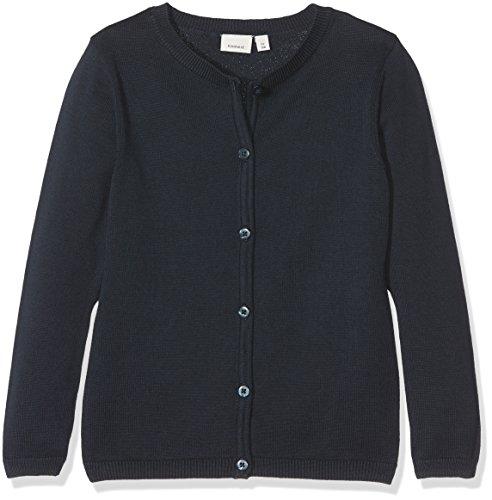NAME IT Mädchen Pullover Nitvaminica LS Knit Card F NMT Noos, Blau (Sky Captain), 158 (Herstellergröße: 158/164)