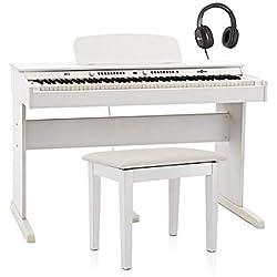 Pack avec Piano Numerique DP-6 et Tabouret par Gear4music Blanc