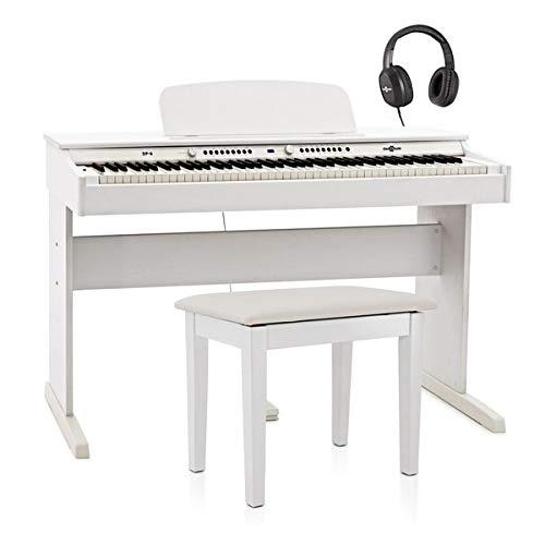 DP-6 Pacchetto di Pianoforte Digitale con Panca di Gear4music Bianco