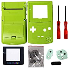 Timorn Completo Vivienda Shell Case Cover Reemplazo para GBC Gameboy Color (Verde)