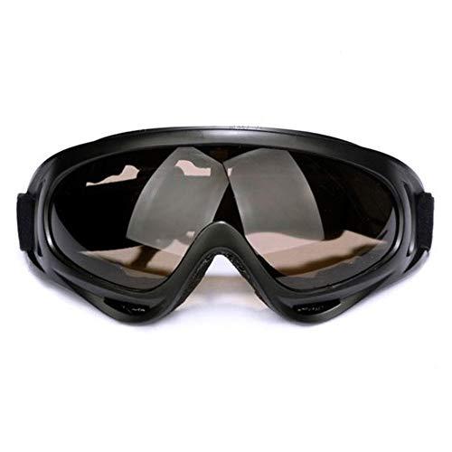 OLLVU Skibrille for Unisex Sport-Sonnenbrille Anti-UV-Bügel Elastic Adjustable Außen for Motorrad-Winddichtes for Wintersport Snowboarden (Farbe : Braun)