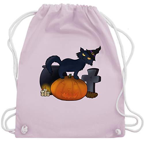 n Katze mit Hexenhut - Unisize - Pastell Rosa - WM110 - Turnbeutel & Gym Bag ()