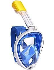 Masque de Plongee Integral Blitz⚡ avec Support pour GoPro | Masque Snorkeling intégral Premium avec Vue 180° | Masque de plongée pour Adulte et Enfant (Bleu, S/M)