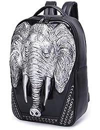 d9d26d4311 3D Elephant Backpack Leather for Teenagers Large School Bag Travel Bag  Fashion Backpacks