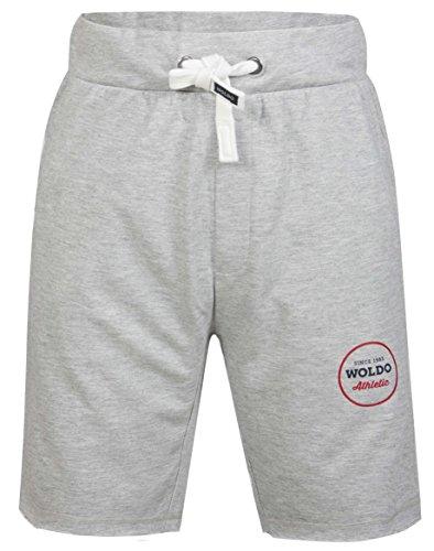 Woldo Athletic-Pantaloni corti da tuta corta Sweatshorts cotone sport fitness palestra Slim Fit Gibson / grey 14-15 Anni (Taglia produttore: Uomo S)